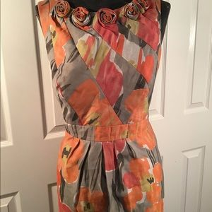 Adrianna Papelll size 14 P floral dress.